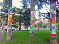 Miranda de Ebro - Yarn bombing en el Parque Antonio Machado 01.jpg