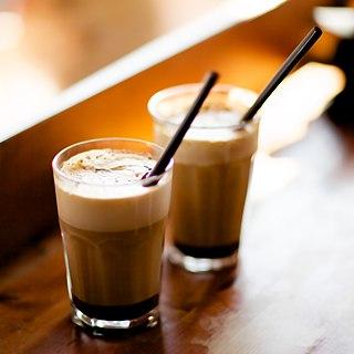 Caffè mocha A chocolate-flavored variant of a caffè latte