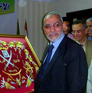 Mohammed Badie Egyptian revolutionary leader