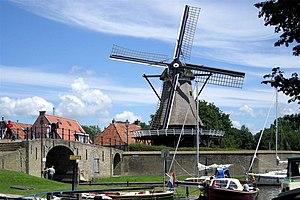 Sloten, Friesland - Image: Molen Sloten 06c