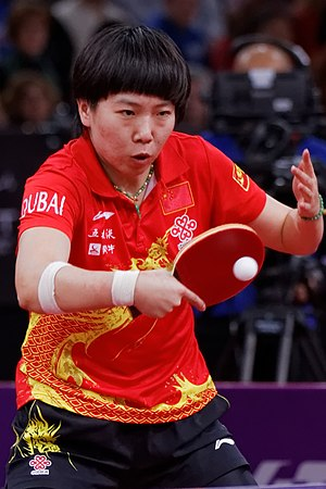 2013 World Table Tennis Championships -  Women's singles winner Li Xiaoxia playing at the event