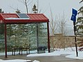 Montage & Empire Canyon bus stop shelter, Park City, Utah, Apr 16.jpg