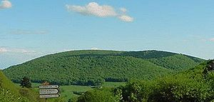 Bibracte - View of Mont Beuvray