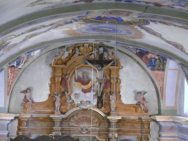 Saint-Theodule's church in Montgellafrey (Savoie, Rhône-Alpes, France).
