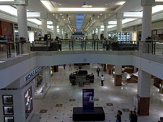 Westfield Montgomery - Nordstrom wing, viewed from the center of the mall, September 2011, prior to the 2013–14 renovation/expansion