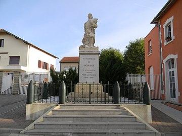 Monument aux morts de Jonage.