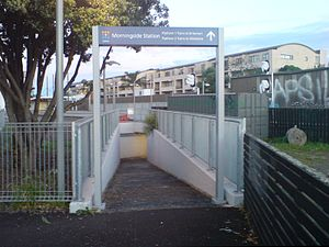 Morningside Railway Station - The underpass that links New North Road and Morningside Station in 2010.