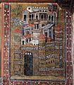 Mosaico della cappella di s. teodoro, 650 ca, restaurati nel 1826-28, 07 gerusalemme celeste.jpg
