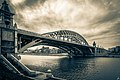 Moscow, Andreevsky railroad bridge and old factories in Luzhniki (2014).jpg