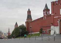 As torres do Kremlin de Moscou