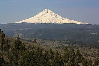 Hood River County, Oregon - View from McCall Point across Hood River County to Mount Hood