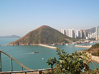 Ap Lei Chau - Mount Johnston on Ap Lei Chau, viewed from Ocean Park.