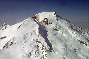 Mount Baker - The south side of Mount Baker in 2001. Sherman Crater is the deep depression south of the summit.
