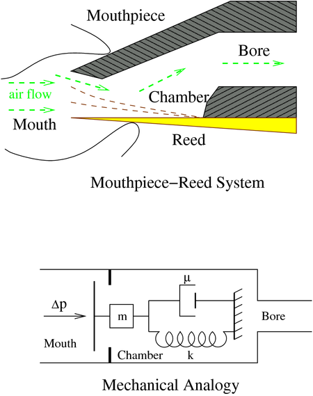 figure 2: mouthpiece-reed system diagram