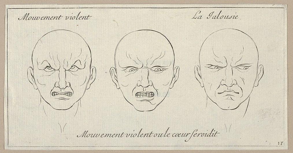 Mouvement Violent, Mouvement violent ou le coeur seroidit, La Jalousie (from Caractères des passions, gravés sur les desseins de l'illustre Monsieur le Brun) MET DP854055.jpg