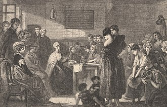 Elizabeth Fry - Fry reading to inmates in Newgate prison