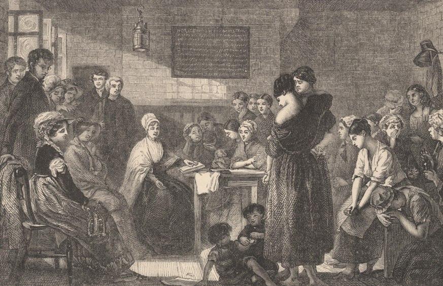 Mrs. Fry reading to the prisoners in Newgate John Johnson