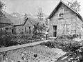 Mrs Dieringer and her home and garden, Valdez, Alaska, circa 1908 (AL+CA 4774).jpg