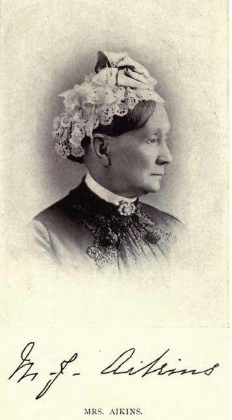 James Cox Aikins - Mrs Mary Elizabeth Jane Aikins by Mrs Carr