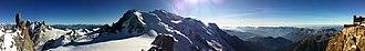 Aiguille du Midi - Image: Mt Blanc full Panorama