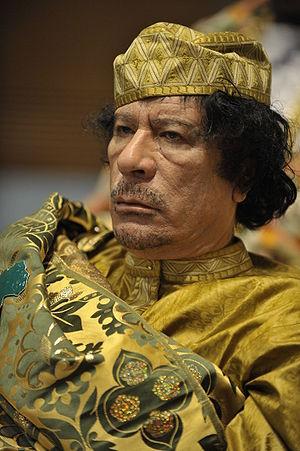 Muammar al-Gaddafi at the 12th AU summit, Febr...