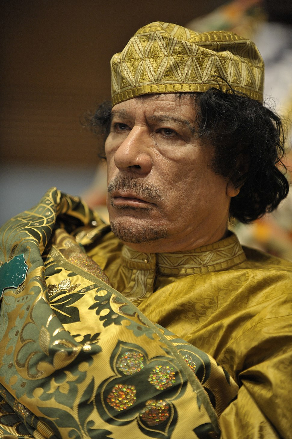 Muammar al-Gaddafi at the AU summit-LR
