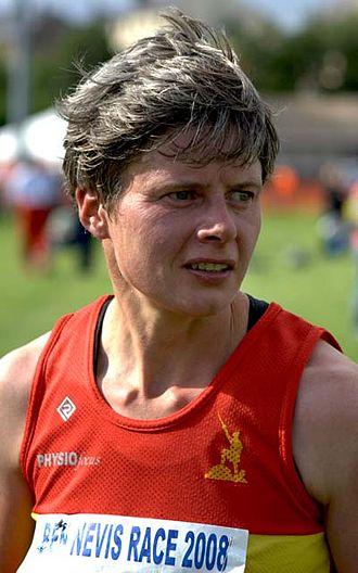 Angela Mudge - Angela Mudge, photographed after winning the 2008 Ben Nevis Race, part of the Skyrunner World Series.