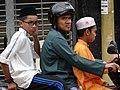 Muslim Trio on Motorbike - George Town - Penang - Malaysia (34674863403).jpg