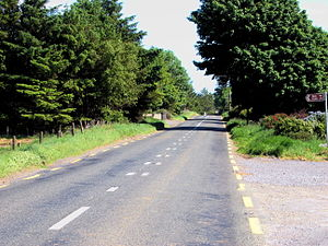 N5 road (Ireland) - The N5 near Tulsk, County Roscommon in 2006, before upgrade works