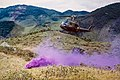 NARA 111-CCV-349-CC43096 Smoke grenade identifies landing zone for 101st Airborne UH-1D carrying brigade commander Operation Cook 1967.jpg