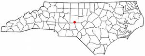 Seagrove, North Carolina - Image: NC Map doton Seagrove