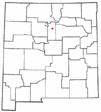 Location in Santa Fe County, New Mexico
