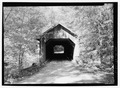 NORTHEAST PORTAL. - Brown Bridge, Spanning Cold River, Upper Cold River Road, Shrewsbury, Rutland County, VT HAER VT-28-1.tif