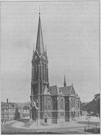 St. Nicholas' Church, Aue - Image: NSKG Aue Nikolaikirche SW