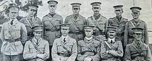 Jack Verge - Officers of the 6th Light Horse, 1914. Verge is seated at the far right.