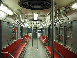 R17 (New York City Subway car) - Image: NYCS R17 interior