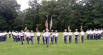 New York Military Academy - Cadets on parade (2004 photo)