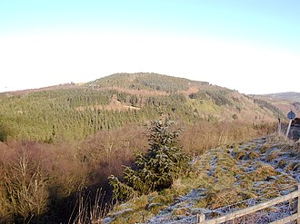 Nant-y-Ffrith - View over Nant-y-Ffrith woods from Bwlchgwyn.