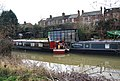 Narrowboats moored on the Medway, Tonbridge (2) - geograph.org.uk - 1199631.jpg