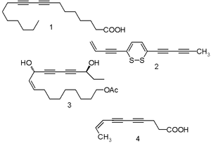Scheme 1. Naturally occurring polyynes