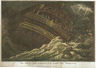 1782 Central Atlantic hurricane - Sinking of the Ville de Paris