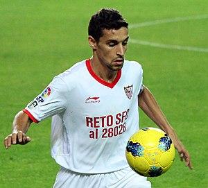 Jesús Navas - Navas playing for Sevilla in 2010