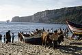 Nazaré-Halage des barques de pêche-Pedro do Guilhim-1967 08 30.jpg