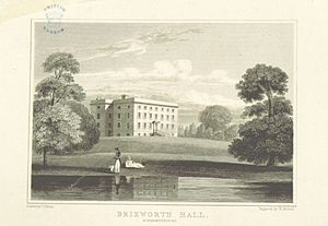 "Brixworth - Brixworth Hall from page 124 of volume 3 of ""Views of the Seats of Noblemen and Gentlemen in England, Wales, Scotland and Ireland."