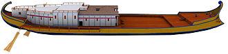 Nemi ships - Reconstruction of the Nemi Ship A