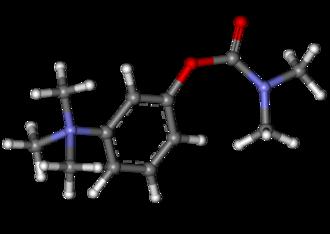 Neostigmine - Image: Neostigmine ball and stick