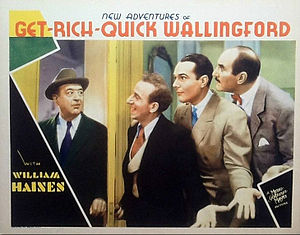 New Adventures of Get Rich Quick Wallingford - Lobby card