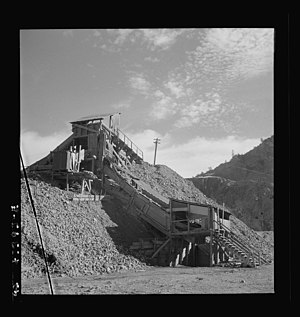 New Idria, California - A part of a mercury extraction plant of the New Idria Quicksilver Mining Company