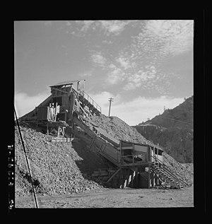 New Idria, California - A part of a mercury extraction plant of the New Idria Quicksilver Mining Company