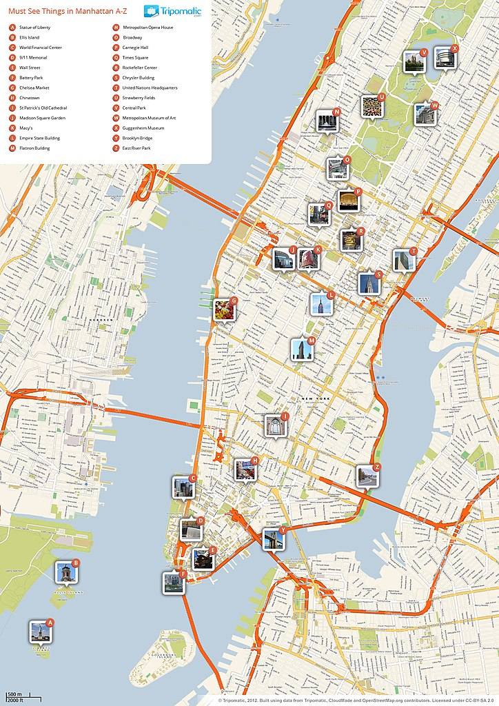 File New York Manhattan Printable Tourist Attractions Map